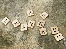 Blog - Be Thankful